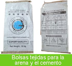 bolsas tejidas de polipropileno cemento