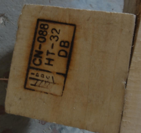 IPPC marked in pallet